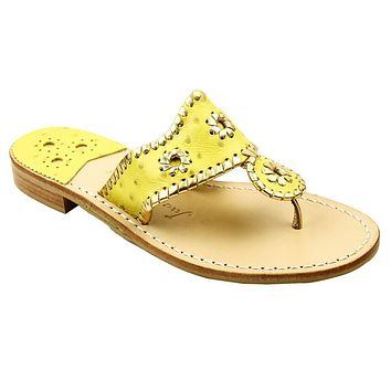 Exclusive Ostrich in Yellow and Gold Navajo Sandals by Jack Rogers - FINAL SALE