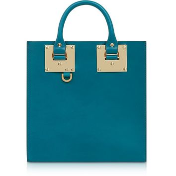 Sophie Hulme Square Albion Leather Tote Bag