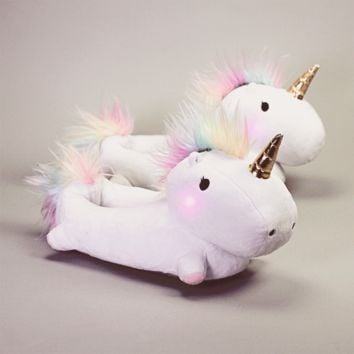 Enchanted Light-Up Unicorn Slippers | Firebox.com - Shop for the Unusual