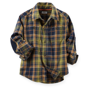 Flannel Button-Front Shirt