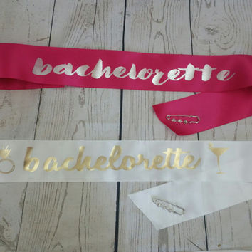 Bachelorette Party Sash - Personalized Bride to Be Sash for Engagement Party Wedding Shower Bachelorette Party or Hen Night