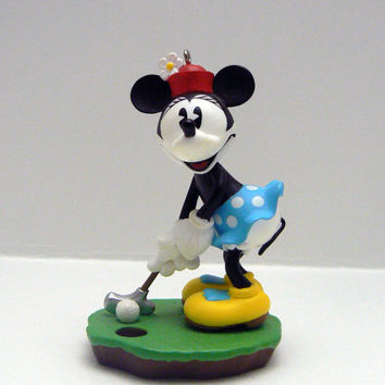 Hallmark Minnie Mouse Final Putt Golf Pro Walt Disney Christmas Keepsake Ornament