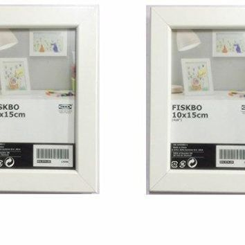 "IKEA FISKBO Frame, White, 4""x6"" (Set of 2 Frames)"