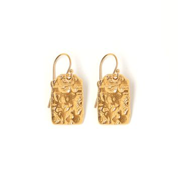 Tess and Tricia Lyra Gold Penta Earring