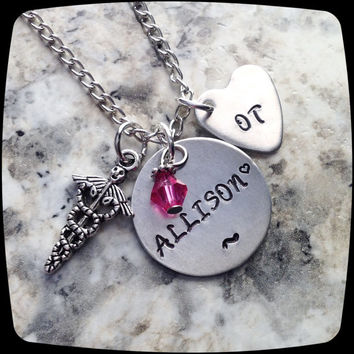 Medical Therapist Jewelry, ot, pta, dpt, rn, lpn, ota, slp, pt, rdh necklace, Gift, Present, Graduation Personalized Jewelry