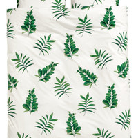 H&M Leaf-print Duvet Cover Set $59.99