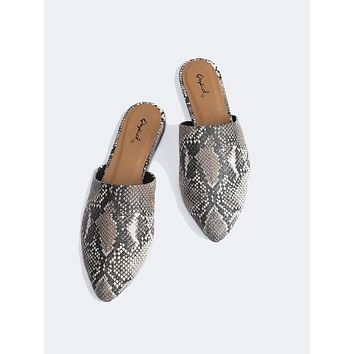 Snake Slip On Loafers