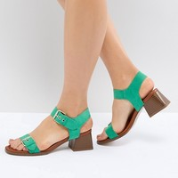 River Island Block Heel Sandals at asos.com