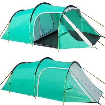 Outdoor Camping Tents Family Party Travelling Tent 3-4 Persons Mountain Tent One Bedroom & One Living Room Waterproof Event Tent