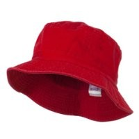 Pigment Dyed Bucket Hat-Red W12S43E
