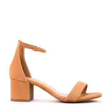 Single Strap Low Heel Sandal