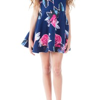 Miss Behave 'Harley' Floral Print Skater Dress (Big Girls) | Nordstrom