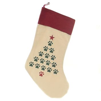 Christmas TREE PAWS STOCKING Fabric Dog Cat Presents 842532429A