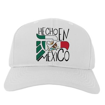 Hecho en Mexico Design - Mexican Flag Adult Baseball Cap Hat by TooLoud