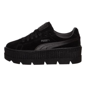 Puma x Fenty by Rihanna - Cleated Creeper Suede Puma Black Sneaker Schuhe
