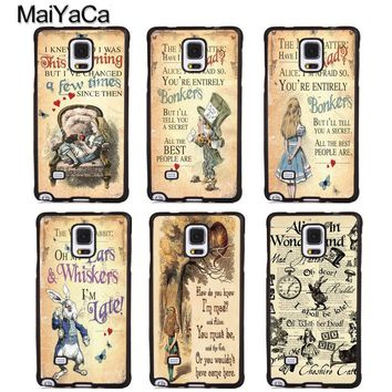 MaiYaCa Alice in Wonderland Quotes Soft Rubber Skin Phone Cover For Samsung Galaxy S5 S6 S7 S8 S9 edge plus Note 4 5 8 Back Case