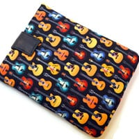 Hand Crafted Tablet Case from Guitar Fabric/ Case for iPad, iPad Mini, Kindle Fire HD, Samsung Galaxy, Nook HD