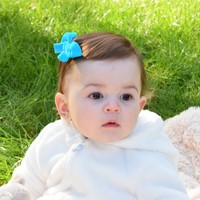 Small velvet hair bows in many styles and colors with your choice of hair clip at Your Final Touch Hair Accessories.
