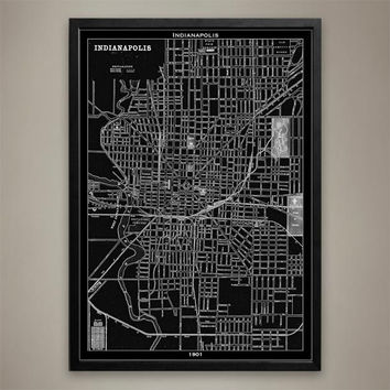 Map Print, Indianapolis