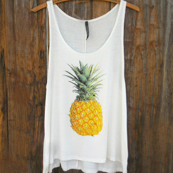 Breezy Pineapple Tank Top