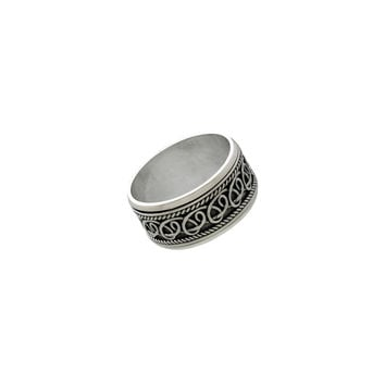 Delta Infinity Sterling Silver Spinner Ring