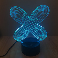 New Arrival Colorful Acrylic LED Multi-color 3D USB Lights = 5826268737