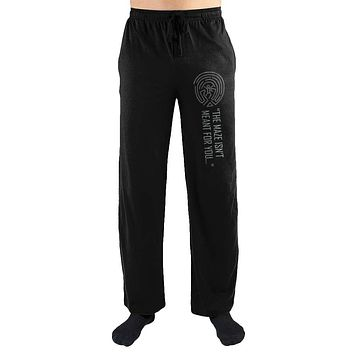 MPLP WestWorld The Maze Isn't Meant For You Print Men's Loungewear Pajama pjs Pants