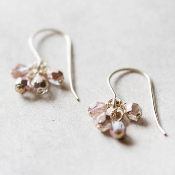 Lucky Earrings in Pink and Gold
