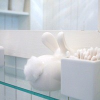 My Style Pinboard / Cute cotton ball dispenser. #cute #cotton #ball #dispenser #bathroom #bunny #rabbit #organize #organized #organization #storage