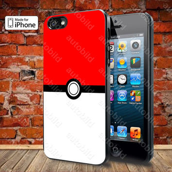 Pokemon Pokeball Case For iPhone 5, 5S, 5C, 4, 4S and Samsung Galaxy S3, S4