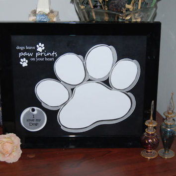 8x10 Dogs Leave Paw Prints Framed Photo Matte