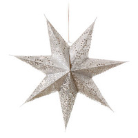 Paper Star Lantern White And Silver