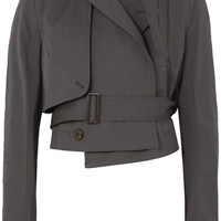 Rick Owens - Cropped cotton-blend poplin jacket