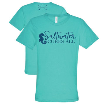 Southern Couture Lightheart Saltwater Triblend Front Print T-Shirt