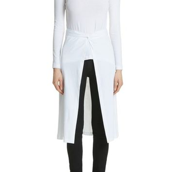 Rosetta Getty Jersey Apron Wrap Top | Nordstrom