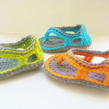 Crochet  Pattern, Sandals Pattern for  Baby Boys, INSTANT DOWNLOAD, Trekkers
