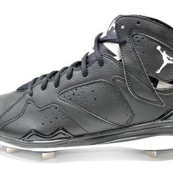 535be5f49 CREYUG7 Jordan Men s Retro 7 Metal Black White Baseball Cleats 684943 010