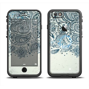 The Vintage Tan & Black Top Swirled Design Apple iPhone 6 LifeProof Fre Case Skin Set