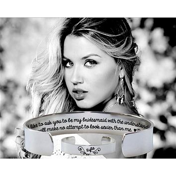 I'd Like To Ask You To Be My Bridesmaid Bracelet   Bridesmaid Invitations