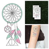 Pastel, Present, Future - Temporary Tattoo (Set of 2)