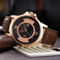 Men Watch Simple Design Stylish Watch Quartz Watch [281920110621]