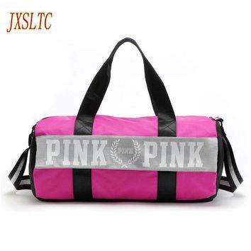 Fashion girl travel duffle bag women pink Victoria beach shoulder bags men large capacity Handbags Overnight weekend travel bag