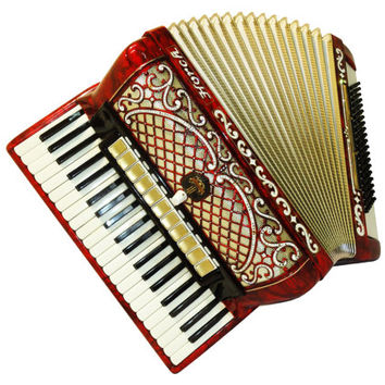Piano Accordion Instrument German Horch Deluxe Weltmeister, 120 Bass, 14 Registers, 430