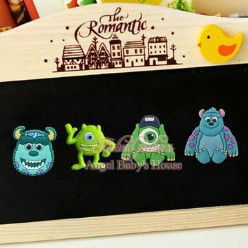 High Quality,4pcs Monsters University Cartoon Magnetic Stickers/PVC Magnets,Office School Supplies,Party Gifts
