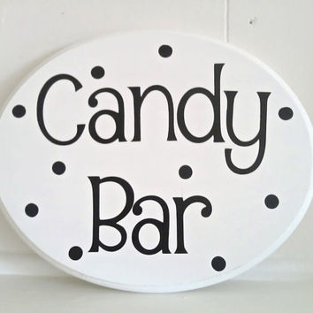 Wedding///Birthday/// Candy Bar Sign Ask about by soohappytogether
