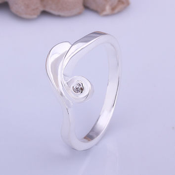 Water Lines Silver Ring