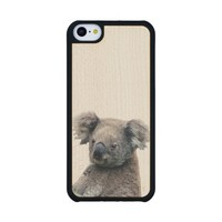 Koala Bear iPhone 5c Slim Maple Wood Case