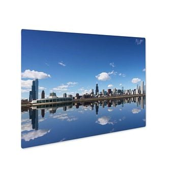 Metal Panel Print, Chicago City And Michigan Lake Chicago Illinois USA