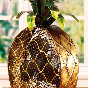 DecoBREEZE Pineapple Figurine Fan