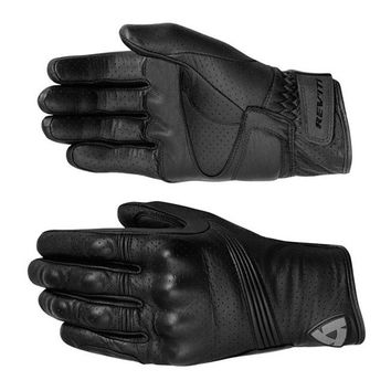 BLACK REVIT Breathable Motorcycle Gloves ATV MX Mountain Downhill Cycling Motocross Racing Leather Gloves Vintage Leather Gloves